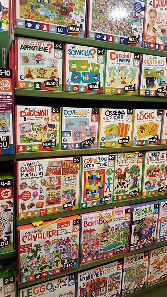 una nuova linea di giochi educativi è arrivata in negozio.